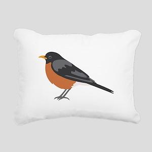 American Robin Rectangular Canvas Pillow
