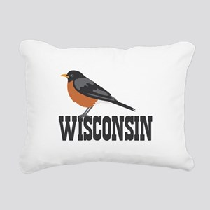 WISCONSIN Rectangular Canvas Pillow