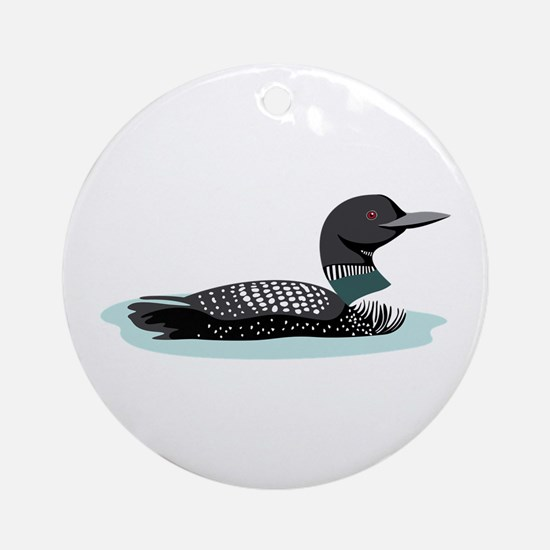 Great Northern Loon Ornament (Round)