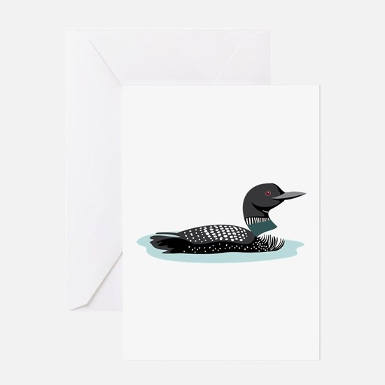 Great Northern Loon Greeting Cards