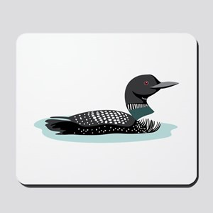Great Northern Loon Mousepad