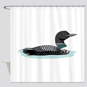 Great Northern Loon Shower Curtain
