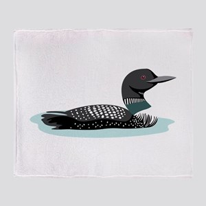 Great Northern Loon Throw Blanket