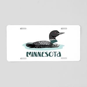 MINNESOTA Loon Aluminum License Plate
