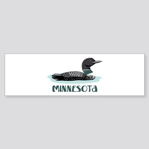 MINNESOTA Loon Bumper Sticker
