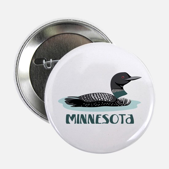 "MINNESOTA Loon 2.25"" Button"