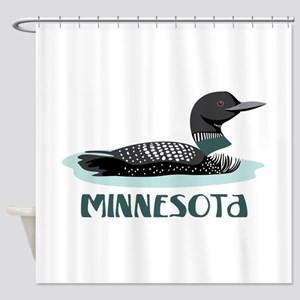 MINNESOTA Loon Shower Curtain