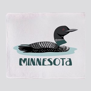 MINNESOTA Loon Throw Blanket