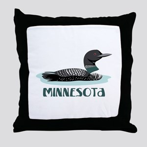 MINNESOTA Loon Throw Pillow
