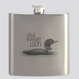 GReat NORtheRn Loon Flask