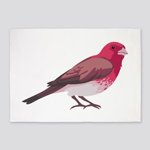 Purple Finch 5'x7'Area Rug