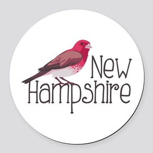 New Hampshire Finch Round Car Magnet