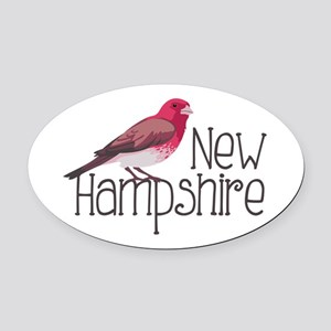 New Hampshire Finch Oval Car Magnet