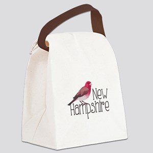 New Hampshire Finch Canvas Lunch Bag