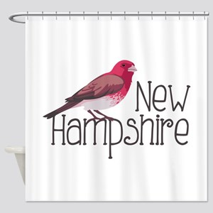 New Hampshire Finch Shower Curtain