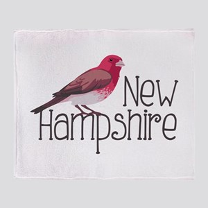 New Hampshire Finch Throw Blanket