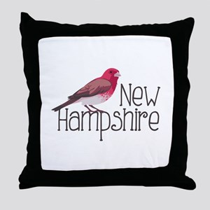 New Hampshire Finch Throw Pillow