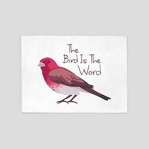 The Bird Is The Word 5'x7'Area Rug