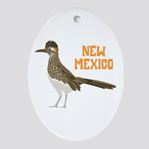 NEW MEXICO Roadrunner Ornament (Oval)
