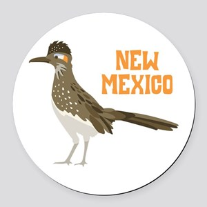 NEW MEXICO Roadrunner Round Car Magnet