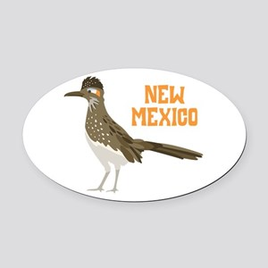 NEW MEXICO Roadrunner Oval Car Magnet