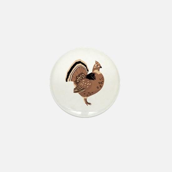 Ruffled Grouse Mini Button