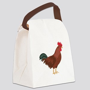 Red Chicken Canvas Lunch Bag