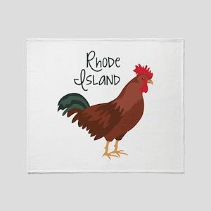 RhoDe IsLaND Red Chicken Throw Blanket