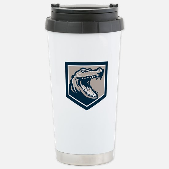 Alligator Head Snout Retro Travel Mug