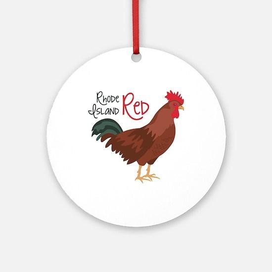 RhoDe IsLaND ReD Ornament (Round)
