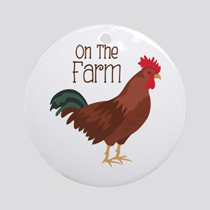 On The Farm Ornament (Round)