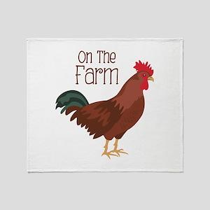 On The Farm Throw Blanket