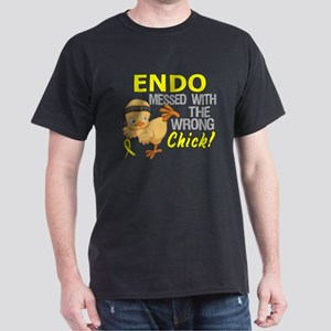 Messed With Wrong Chick 3 Endometrios Dark T-Shirt