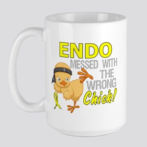 Messed With Wrong Chick 3 Endometriosis Large Mug