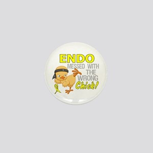 Messed With Wrong Chick 3 Endometriosi Mini Button