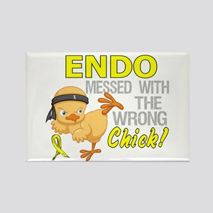 Messed With Wrong Chick 3 Endomet Rectangle Magnet