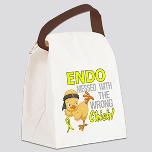 Messed With Wrong Chick 3 Endomet Canvas Lunch Bag