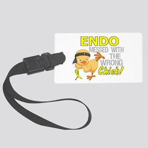 Messed With Wrong Chick 3 Endome Large Luggage Tag