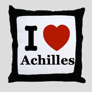 I love Achilles Throw Pillow