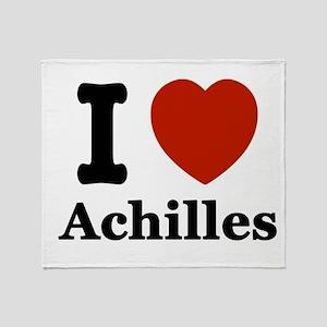 I love Achilles Throw Blanket