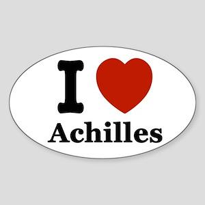 I love Achilles Sticker (Oval)