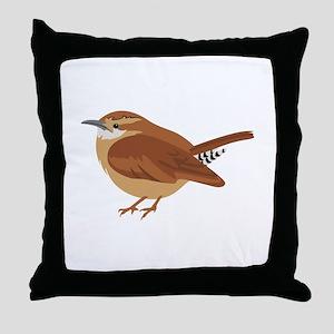 Great Wren Throw Pillow