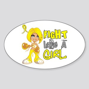 Licensed Fight Like a Girl 42.8 End Sticker (Oval)