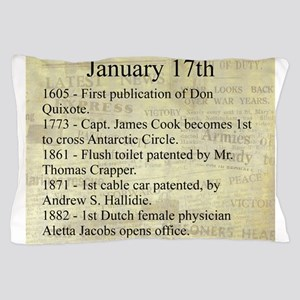 January 17th Pillow Case