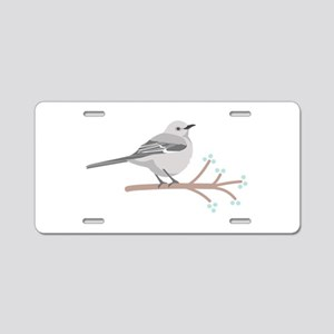 Northern Mockingbird Aluminum License Plate