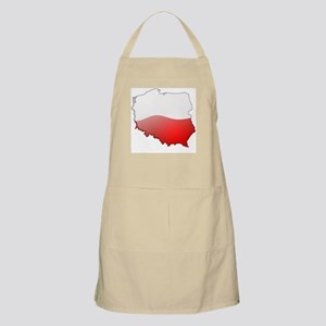 """Poland Bubble Map"" BBQ Apron"