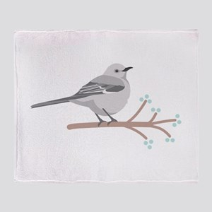 Northern Mockingbird Throw Blanket