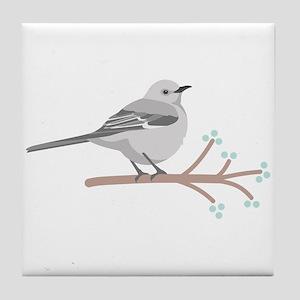 Northern Mockingbird Tile Coaster
