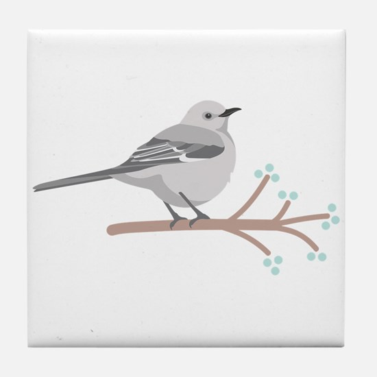 Northern Mockingbird Tile Coaster