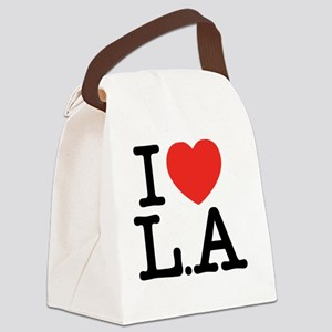 I Love L.A Canvas Lunch Bag
